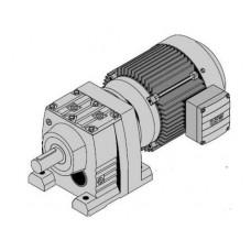 R37DRS80M4 Цилиндр.мотор-редуктор Р=1,1кВт, 78об/мин, цельный вал 25x50мм