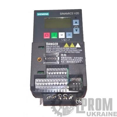 Частотный преобразователь Siemens V20 6SL3210-5BB13-7UV0 220В 0.37 кВт