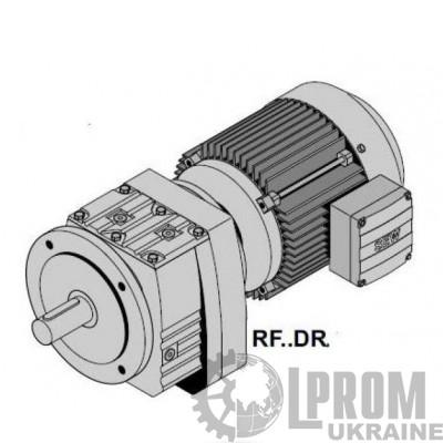 R37DRS80M4+RF..DR Цилиндр.мотор-редуктор Р=1,1кВт, 78об/мин, цельный вал 25x50мм, фланец 160мм