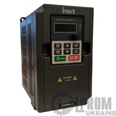 Частотный преобразователь INVT GD10 GD10-0R7G-S2-B 220В 0.75 кВт