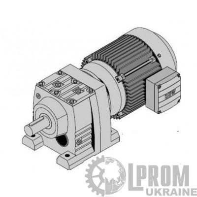 R57DRS90L4 Цилиндр.мотор-редуктор Р=2,2кВт, 75об/мин, цельный вал 35x70мм