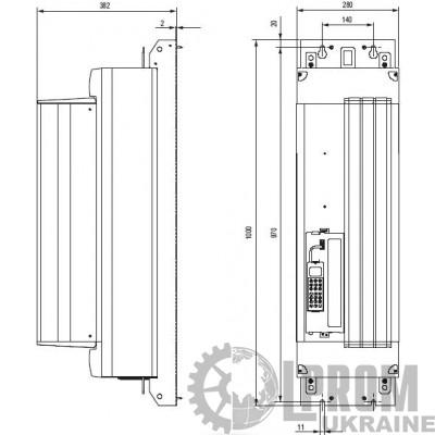Частотный преобразователь SEW MDX61B1320-503-4-0T 380 В 132 кВт