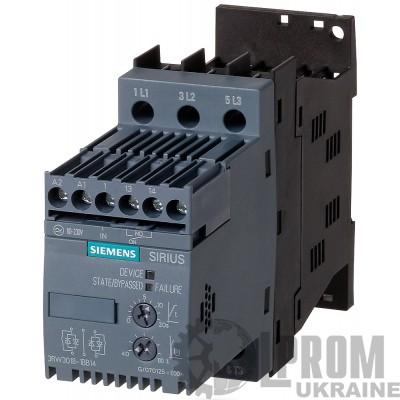 Устройство плавного пуска Siemens 3RW30 4 кВт 9 А 3RW3016-1BB04