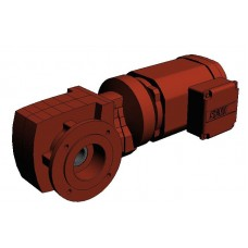 WAF47DRS80M4 Мотор-редуктор Spiroplan Р=1,1кВт, 75об/мин, полный вал 30мм, фланец 160мм